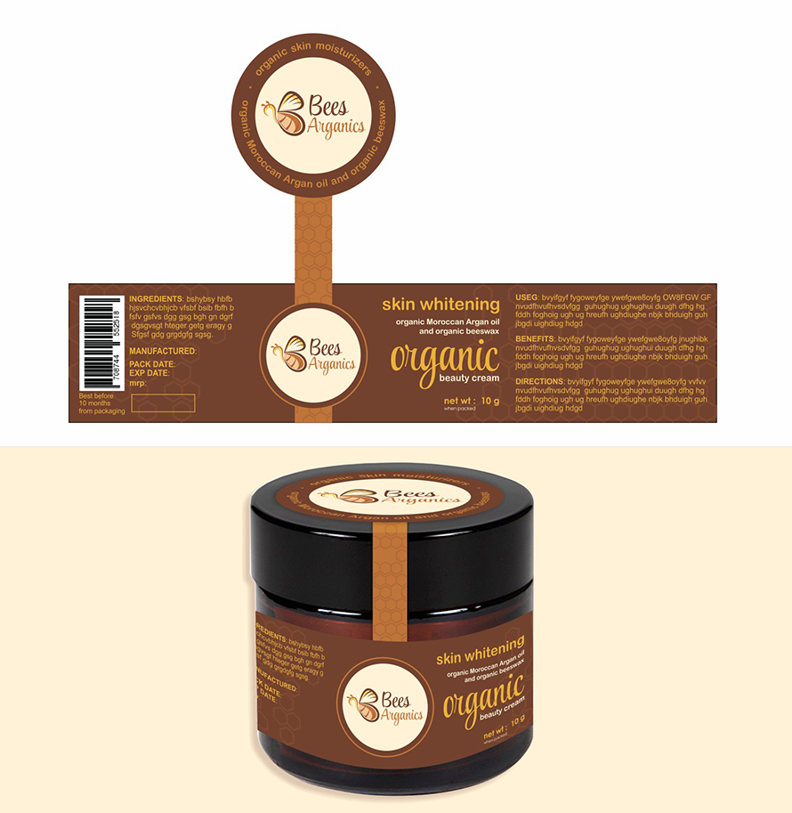 label designs for organic beauty products