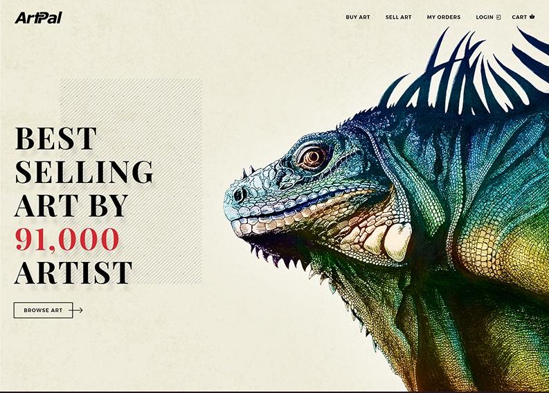 Retro web Design for ARTIST