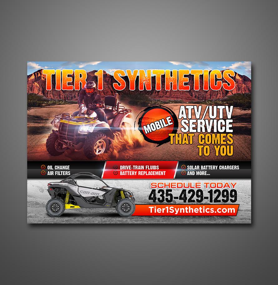 Postcard designs for Mobile ATV service